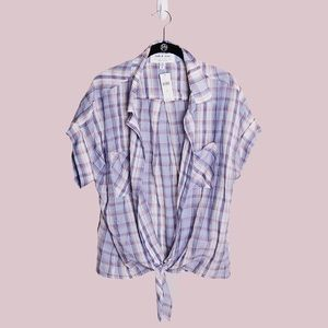 Anthropologie NWT Plaid Buttondown